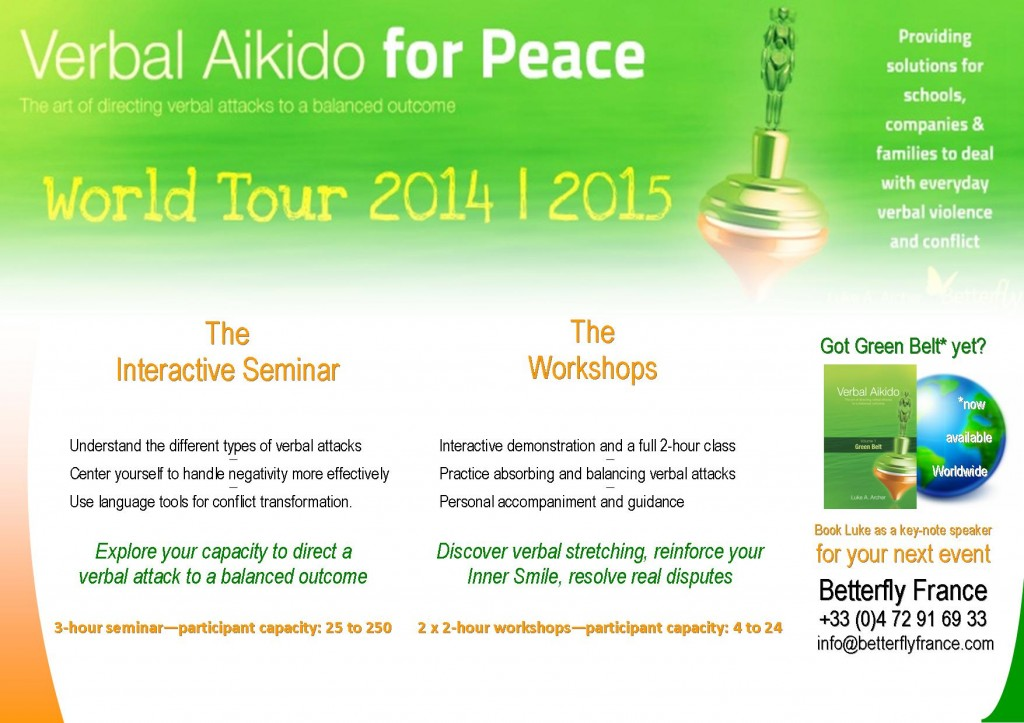 VAP Tour 2014 Seminars & Workshops